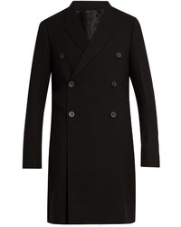 Rick Owens Double Breasted Wool Overcoat