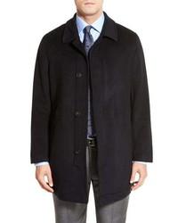 Hart Schaffner Marx Douglas Modern Fit Wool Cashmere Overcoat