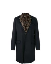 Fendi Ff Motif Single Breasted Coat