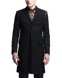 Givenchy Three Button Overcoat Black