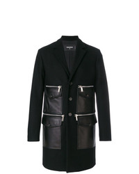 DSQUARED2 Leather Pocket Coat