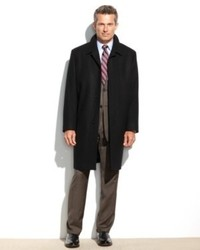 London Fog Coat Coventry Solid Wool Blend Overcoat