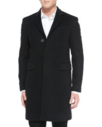 Burberry London Single Breasted Woolcashmere Coat Black
