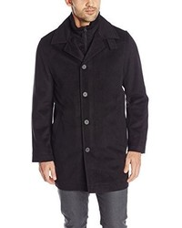 Nautica Pg Knit Collar Insert Wool Blend Topcoat