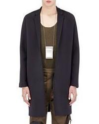 Balenciaga Neoprene Overcoat Black