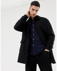 ONLY & SONS Oversized Wool Overcoat With Patch Pocket