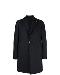 Tagliatore Patterned Single Breasted Coat