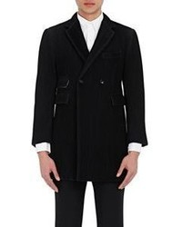 Thom Browne Pintuck Pleated Double Breasted Peacoat Black Size 1