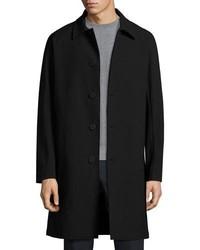 Theory Porter Hl Kingward Single Breasted Top Coat Black