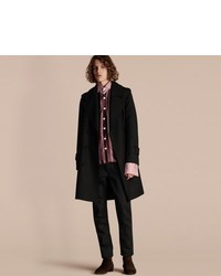 Burberry Relaxed Fit Wool Twill Trench Coat