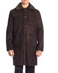 Opening Ceremony Reversible Solid Faux Suede Overcoat