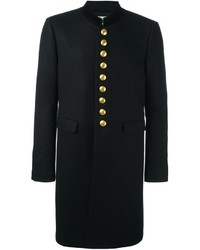 Saint Laurent Velvet Collar Officer Coat