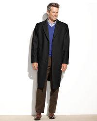 London Fog Signature Wool Blend Overcoat