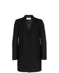 Saint Laurent Single Breasted Wool Coat