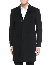 Burberry Single Breasted Woolcashmere Coat Black