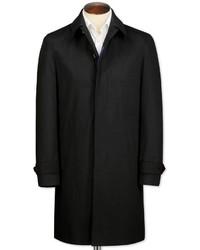 Charles Tyrwhitt Slim Fit Black Raincoat