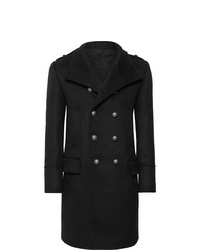 Balmain Slim Fit Double Breasted Cashmere Coat