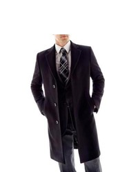 Stafford 100% Wool Topcoat Black