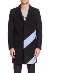 MSGM Striped Wool Blend Overcoat