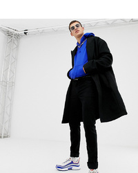 Collusion Tall Overcoat In Black