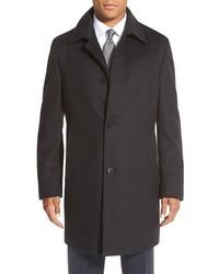 BOSS Task Trim Fit Wool Cashmere Overcoat