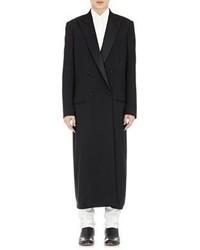 Maison Margiela Tech Twill Double Breasted Overcoat Black Size 50 Eu