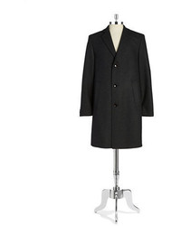 Bugatti Textured Wool Overcoat