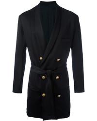 Balmain Tie Waist Double Breasted Coat