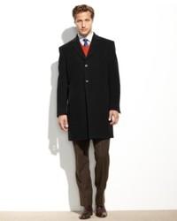 Tommy Hilfiger Barnes Cashmere Blend Overcoat Trim Fit