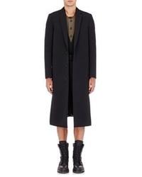 Balenciaga Twill Layered Overcoat Black Size L