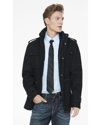 Express Wool Blend Four Pocket Military Coat