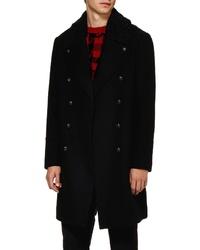 Topman Wool Blend Overcoat