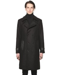 Wool Blend Trench Style Coat