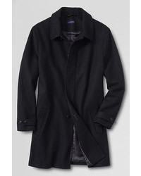 Classic Wool Topcoat Dark Charcoal Herringbonexxl