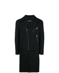 Neil Barrett Zippers Single Breasted Coat