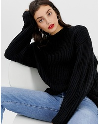 ASOS DESIGN Chunky Jumper In Rib With Crew Neck