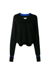 Maison Margiela Elongated Sleeve V Neck Sweater