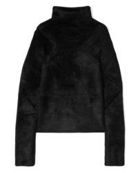 Haider Ackermann Oversized Ribbed Chenille Turtleneck Sweater