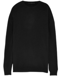 Haider Ackermann Oversized Silk Paneled Wool And Cashmere Blend Sweater