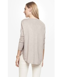 Express Oversized V Neck Tunic Sweater   Where to buy & how to wear