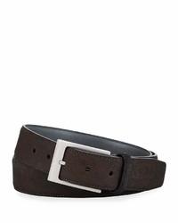 Robert Graham Paisley Leather Belt Tan