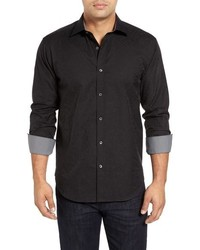 Black Paisley Long Sleeve Shirt