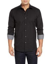 Shaped fit paisley sport shirt medium 915616