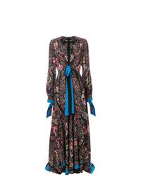 Etro Long Plunge Neck Dress