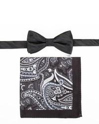 croft & barrow Patterned Pre Tied Bow Tie Pocket Square Set