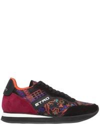 Etro Paisley Jacquard Suede Sneakers