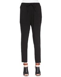 Marissa Webb Polina Drawstring Pants Black