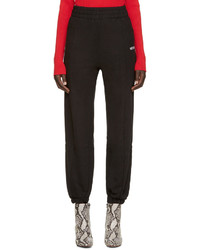Vetements Black Biker Fitted Lounge Pants