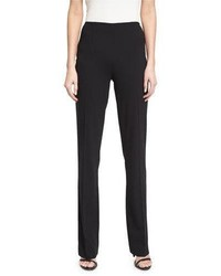 Ralph Lauren Collection Alandra Side Zip Stretch Wool Pants Black