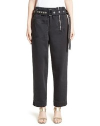 Marc Jacobs Cotton Sateen Pants With Studded Belt